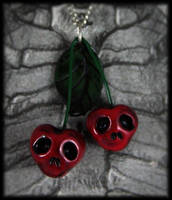 Scary Cherries Necklace by NeverlandJewelry
