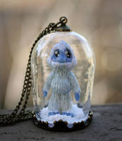 Pet Yeti Necklace by NeverlandJewelry
