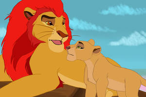 Kion and his first daughter by miticasupervio