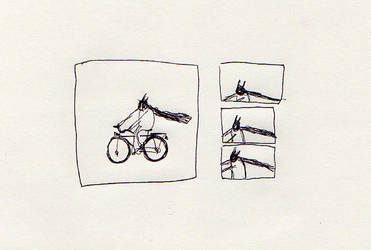 Riding the bike by lillgroda