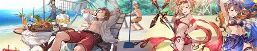 Granblue Fantasy Summer Banner by Exartia