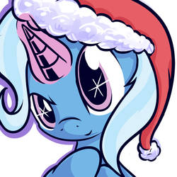 Trixie With Christmas Hat by Magician-Horse