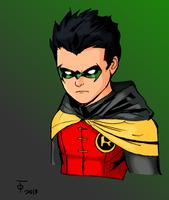 Damian Wayne-Robin by lucybianchi