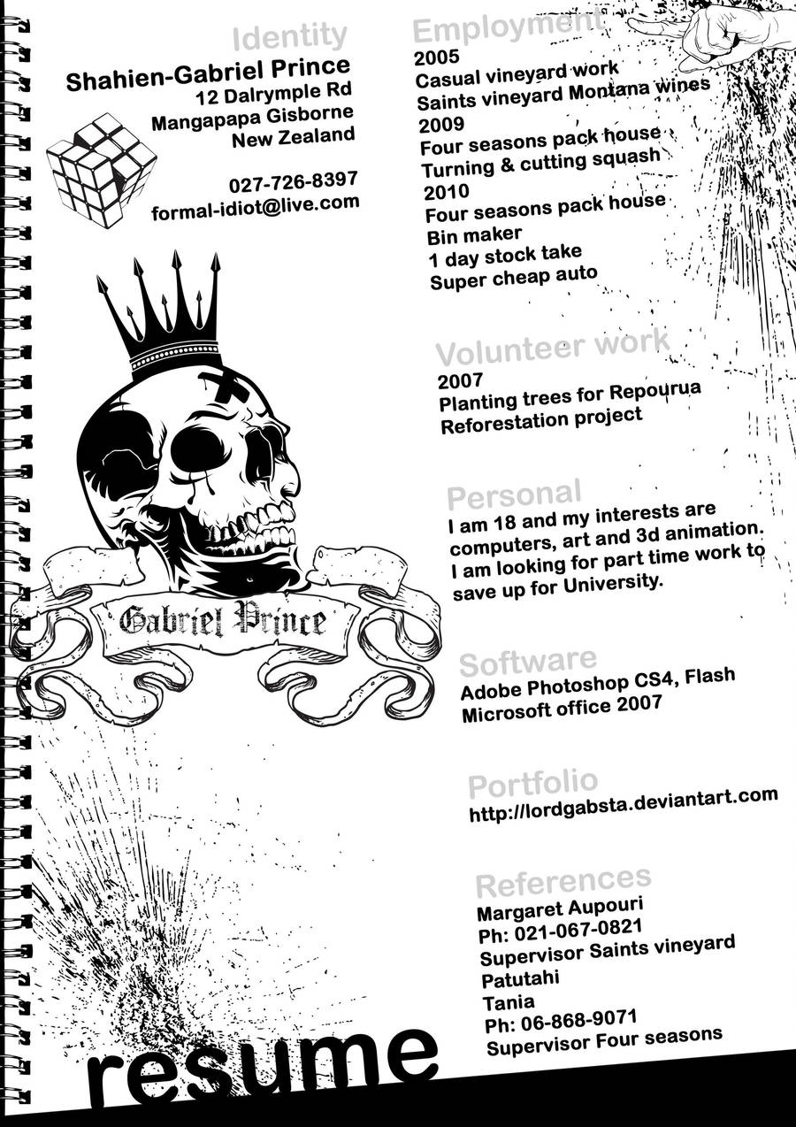 Resume by LordGabsta