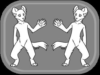 F2U Anthro Hyena Template | PSD Download | by XxWolfArtxX