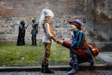 Dandelion and Ciri by Gerutskiy
