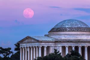 Thomas Jefferson Memorial Moonrise by ryangallagherart