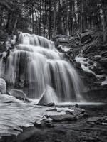 Dutchman Falls in Winter by ryangallagherart