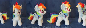 Rainbow Dash Filly Plushie by haselwoelfchen