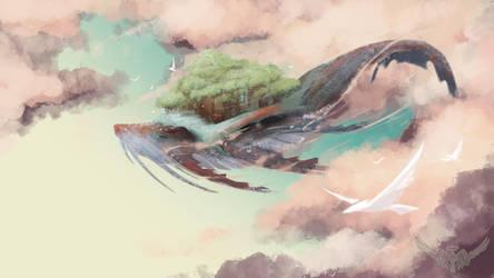 Baleine Nuage by Atoupik