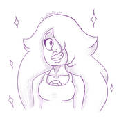 Amethyst Sketch (SU) by KarolaTheDragon