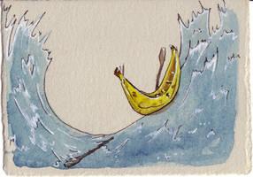 Banana Boat Card by Quilsnap