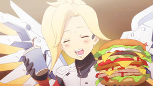 Mercy Overwatch Fastfood by HulfBlood
