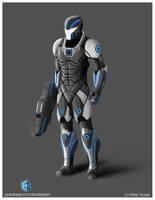 recon ranger conceptart by VibhasVirwani