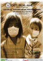swine flu poster by VibhasVirwani