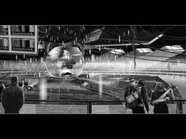 the Time-travellers spaceport by VibhasVirwani