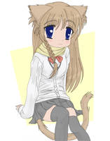 Tiny Catgirl Colored by Hank88
