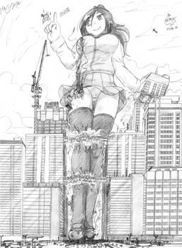 [Art Trade] Machika's visit by Hank88