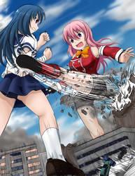 Daikousha Nagi - Nagi vs Saeko by Hank88