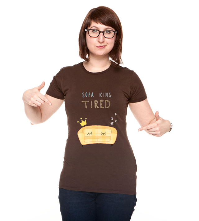 Sofa King Tired T Shirt By Sofirezende