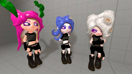 Octoling Makeovers (Starting) by MikaInkling