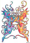 Twin Angels by Wollfisch