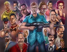GTA Vice city (characters) by huzzain