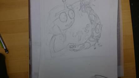 Princess bubblegum sketch  by TheMLT