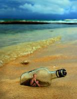 Man in a bottle by Sagitarii