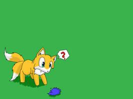 Tails meets Sonic by Furgemancs