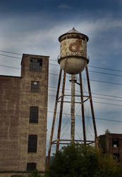 Watertower and Building by jmeeter