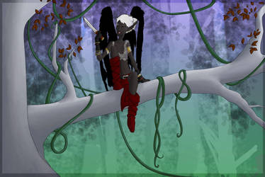 Raesha in the Treetops by deadeuphoric