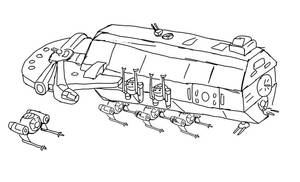 Modified YT 13000 Fighter Carrier by jay042