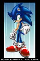 Sonic The Hedgehog by VioletChiko
