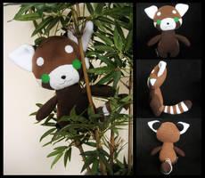 Red Panda Plushie by melkatsa