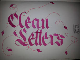 Clean Letters Calligraphy by Milenist