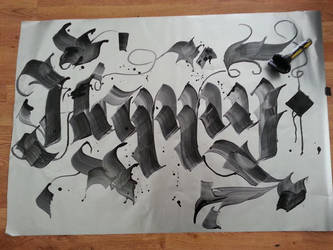 Happy Calligraphy !! :) by Milenist
