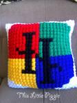 Hogwarts Crest Pillow by TLPCrochet