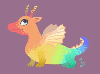 Little rainbow dragon by Shmyrina