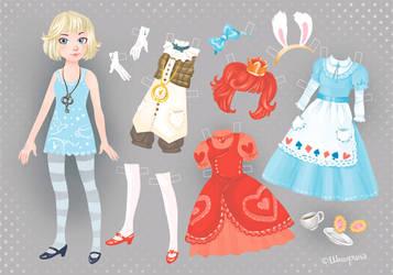 Dress up Alice doll by Shmyrina