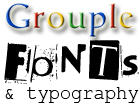 Fonts and Typography Grouple by pantheon9000