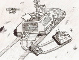 Rhinodermatidae Drone Carrier and Friends by TheCentipede