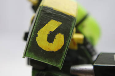 'Buggo Fren' Right Shoulder Stencil Detail by TheCentipede