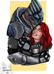 Garrus And Shepard by dleadabrand
