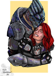 Garrus And Shepard (dont ever leave me) by dleadabrand