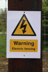 Warning: Electric Fence by fuguestock