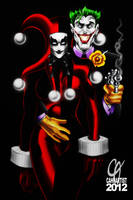 Harley Quinn and The Joker by Cahnartist