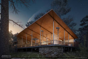 3D Forest House night version by JeSSanchez