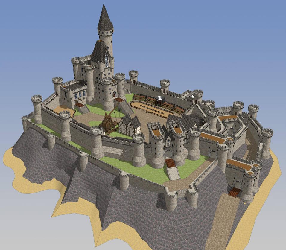 HONORGUARD, The castle of Morane, full scene by shad-brooks