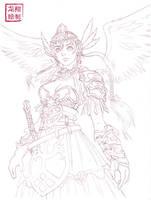 My Valkyrie lineart by ShinRyuShou